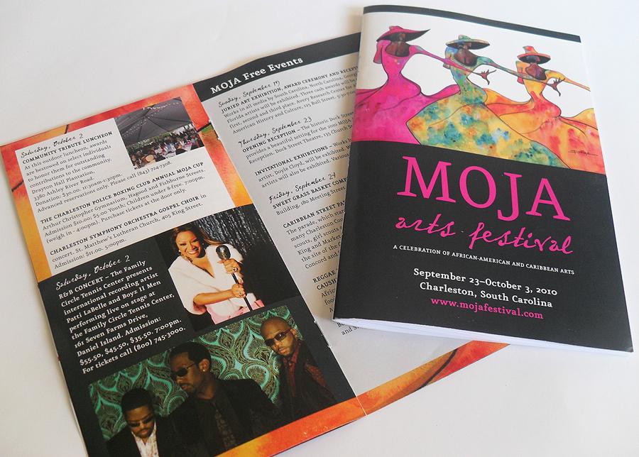 Moja arts festival brochure and guide for Festival brochure design